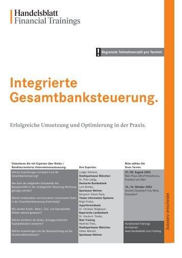 Integrierte Gesamtbanksteuerung.