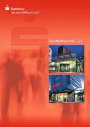 Geschäftsbericht 2009 - Sparkasse Langen-Seligenstadt