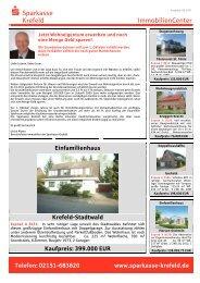 Einfamilienhaus - Sparkasse Krefeld