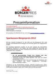 Presseinformation - Vereinigte Sparkassen Eschenbach i d Opf
