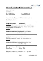 Ansprechpartner regionetz GmbH - Marktkommunikation