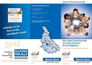 Info Genossenschaft - Sparda-Bank Ostbayern