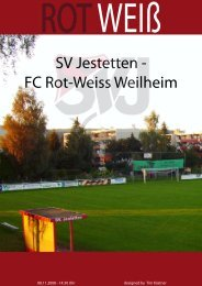 SV Jestetten - FC Rot-Weiss Weilheim