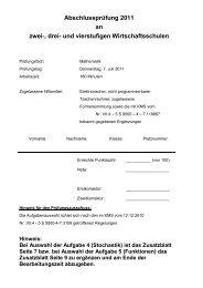 Abschlussprüfung 2011 an zwei-, drei - Staatliche Wirtschaftsschule ...