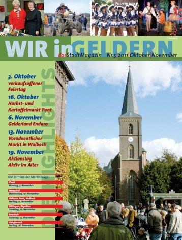 3. Oktober 16. Oktober 6. November 13. November ... - WIR in Geldern