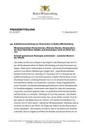 PRESSEMITTEILUNG - Ministerium für Ländlichen Raum und ...
