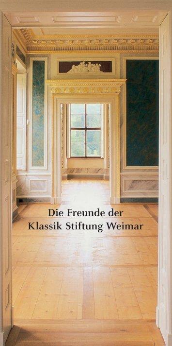 Leaflet - Klassik Stiftung Weimar