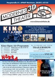 Kino-Open-Air-Programm: TRAILERSHOW - Kino Weinheim