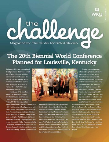 The 20th Biennial World Conference Planned for Louisville, Kentucky