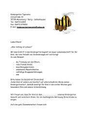Kindergarten Tigerente - Anmeldung - Merenberg
