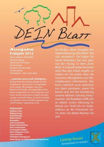 DEIN Blatt Ausgabe 9 - Deininghausen.de