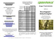 herunterladen - Greenpeace Gruppen in Deutschland