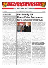 Bezirkskurier 2/2012 - Klaus-Peter Bachmann