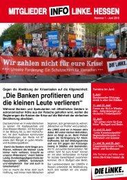 Nr. 1 - Juni 2010 - Die Linke. Hessen