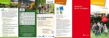 Flyer Wanderopening 2013 - Naturpark Hohes Venn - Eifel