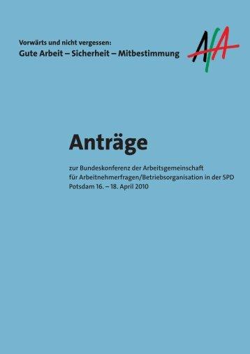 Antragsbuch BuKo 2010 - AfA-Bezirk Hannover