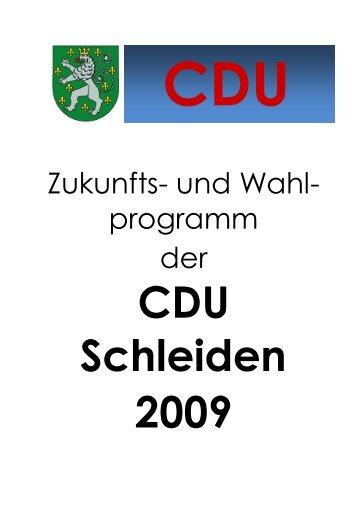 Zukunfts- und Wahlprogramm der CDU Schleiden