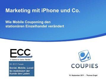 Thomas Engel, Pressesprecher für PR und Marketing ... - ECC Handel
