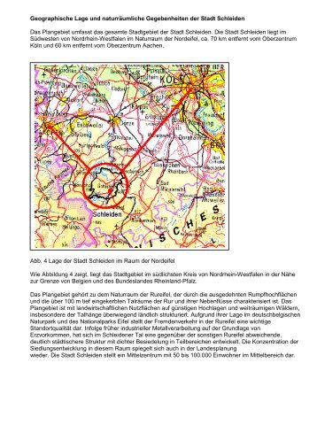 Erläuterungen zum Flächennutzungsplan der Stadt Schleiden