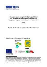 RWTH Besucherbefragung Nationalpark Eifel 2007