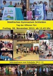 Info-Broschüre zum Schuljahr 2012/2013 - Städtisches Gymnasium ...