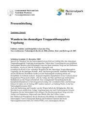 Pressemitteilung Wandern im ehemaligen ... - Nationalpark Eifel