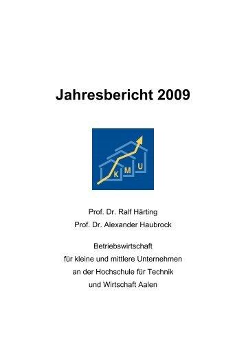 KMU-Jahresbericht 2009 - Hochschule Aalen