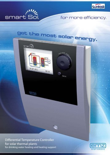 Differential Temperature Controller for solar thermal plants