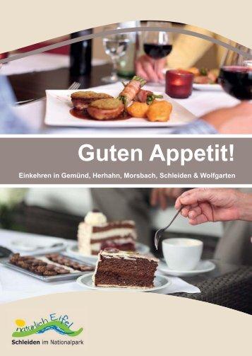 """Gastroführer """"Guten Appetit"""" - Natürlich Eifel"""