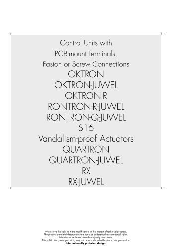 OKTRON OKTRON-JUWEL OKTRON-R RONTRON-R-JUWEL ...