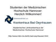 Studierende im Praktischen Jahr - Standort Bad ... - Klinikum Minden