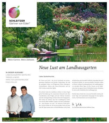 Schleitzer magazine - Schleitzer garten ...