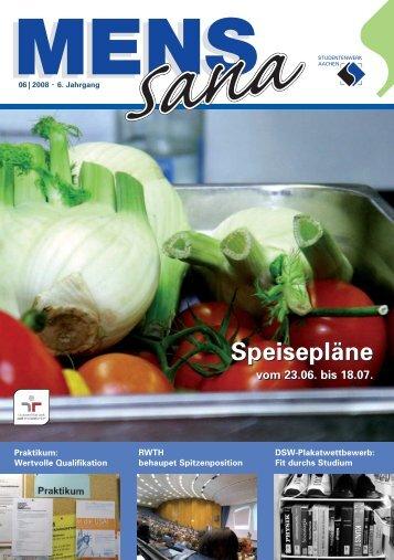 Speisepläne Speisepläne - Studentenwerk Aachen