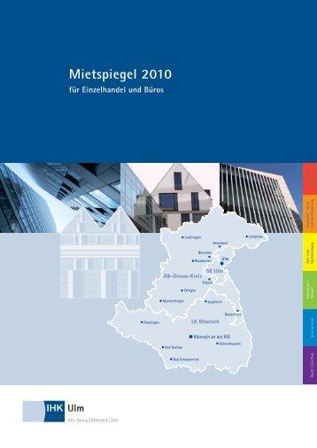 Mietspiegel 2010 - Stadtentwicklungsverband Ulm/Neu-Ulm