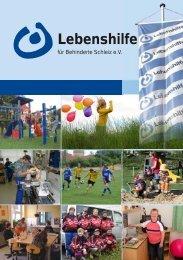 16-seitige Broschüre der Lebenshilfe für Behinderte Schleiz