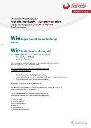 Fachinformatiker FR Systemintegration - Stadtwerke Rosenheim