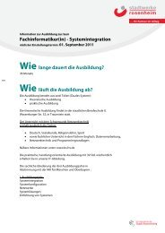 Fachinformatiker(in) - Systemintegration - Stadtwerke Rosenheim