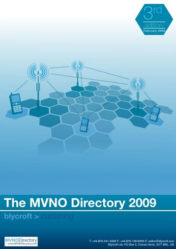 The MVNO Directory 2009 blycroft - Telecoms Market Research