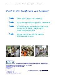 Fisch in der Ernährung von Senioren - Max Rubner-Institut - Bund.de