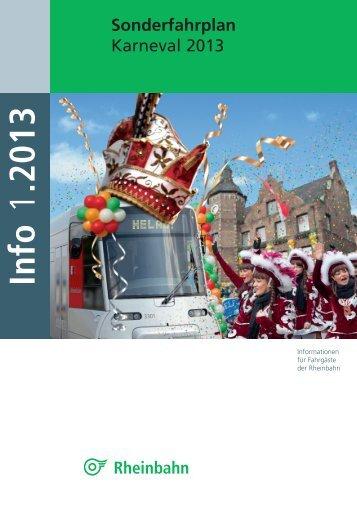 Sonderfahrplan Karneval - Rheinbahn