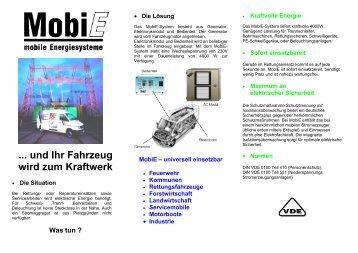 ... und Ihr Fahrzeug wird zum Kraftwerk - Mobie.de
