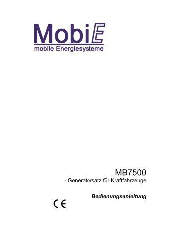 2 Das Stromerzeugungssystem MB7500 - Mobie.de
