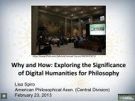 of Digital Humanities for Philosophy