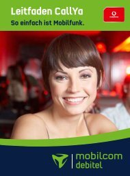 Leitfaden CallYa - Mobilcom-Debitel