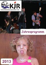 Jahresprogramm 2013 - Kreisjugendring Mühldorf