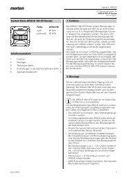6216xx System Basis ARGUS 180 UP Einsatz