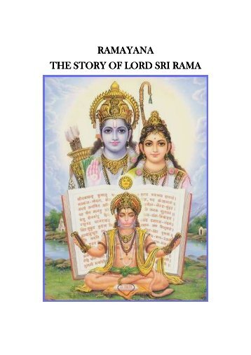 RAMAYANA THE STORY OF LORD SRI RAMA THE STORY OF ...