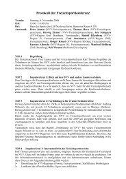 Protokoll der Freizeitsportkonferenz - NVV