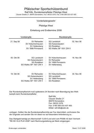 VL - Pfälzischer Sportschützenbund eV