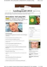 Kandidaten - Ralf Ludwig